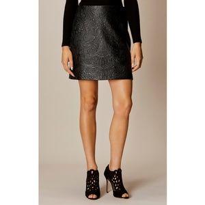Karen Millen Embroidered Faux Leather Mini Skirt